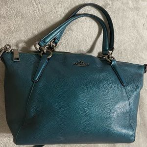 Blue coach satchel/ crossbody